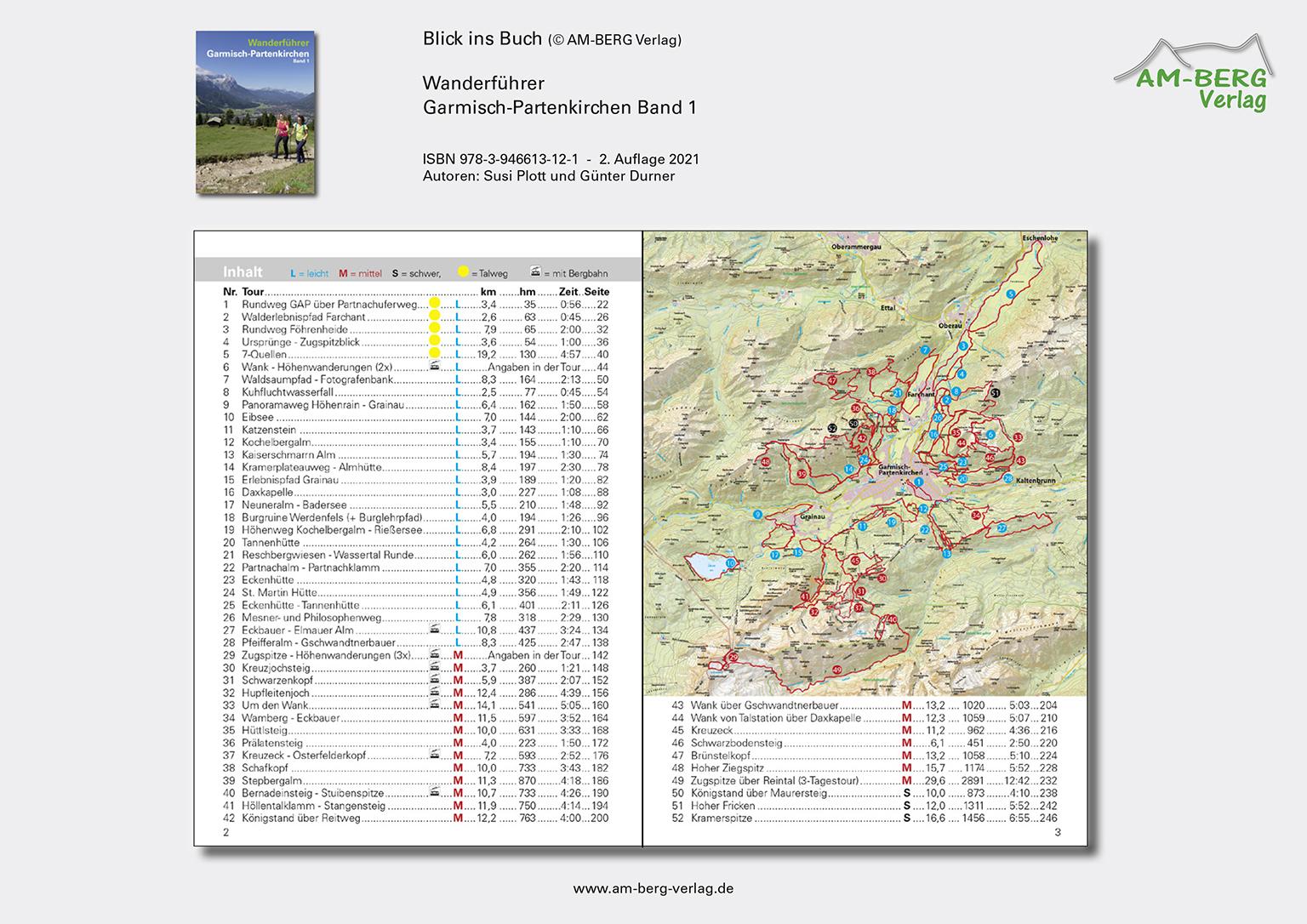 Wanderführer Garmisch-Partenkirchen Band 1_Blick ins Buch02