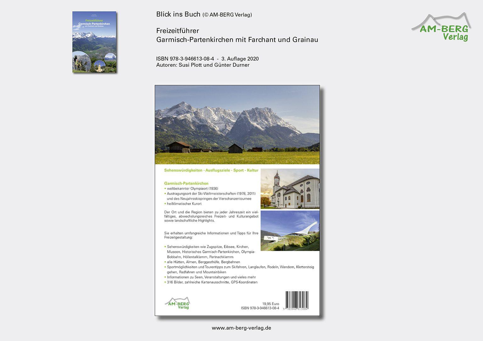 Freizeitführer Garmisch-Partenkirchen mit Farchant und Grainau_Rückseite Buch