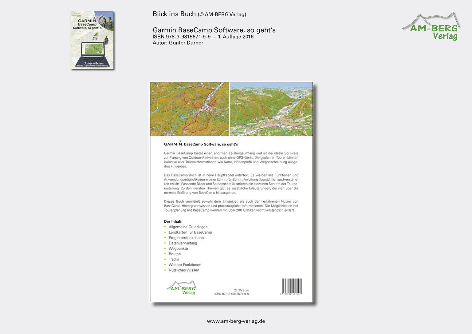Garmin BaseCamp Software_Rückseite Buch