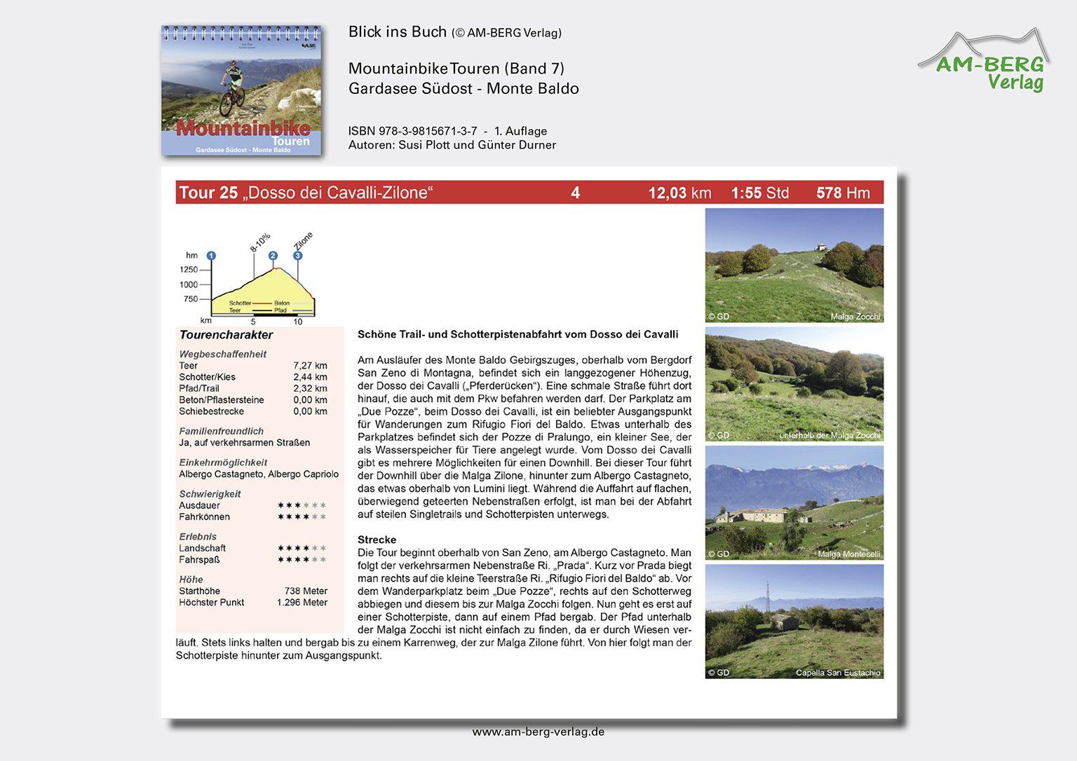 Mountainbike Touren Gardasee Südost - Monte Baldo_BlickinsBuch8