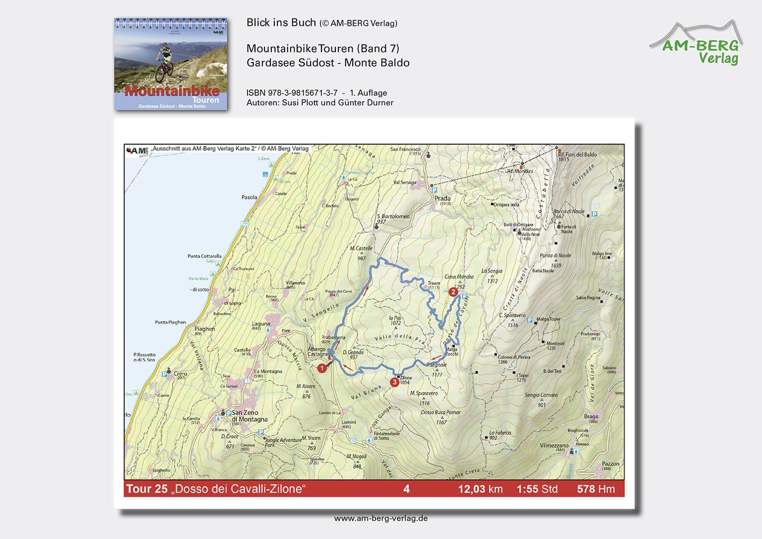 Mountainbike Touren Gardasee Südost - Monte Baldo_BlickinsBuch_Dosso-dei-cavalli-zilone