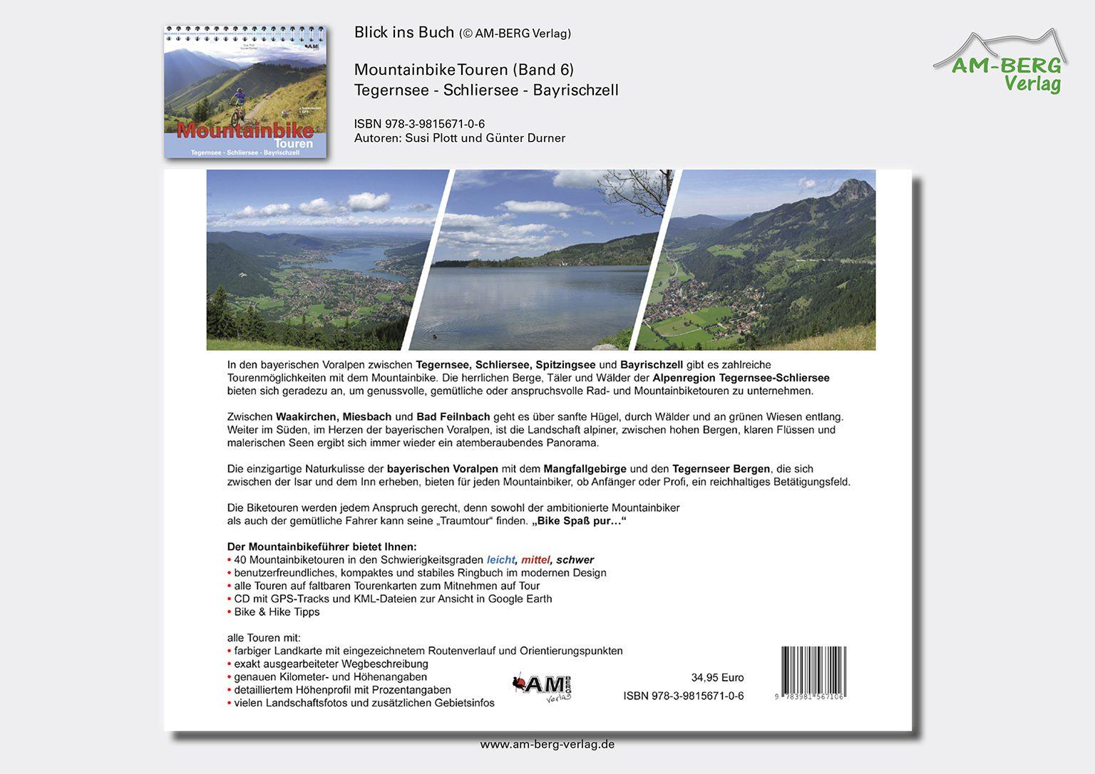 Mountainbike Touren Tegernsee-Schliersee-Bayrischzell (Band 6)_Rückseite Buch