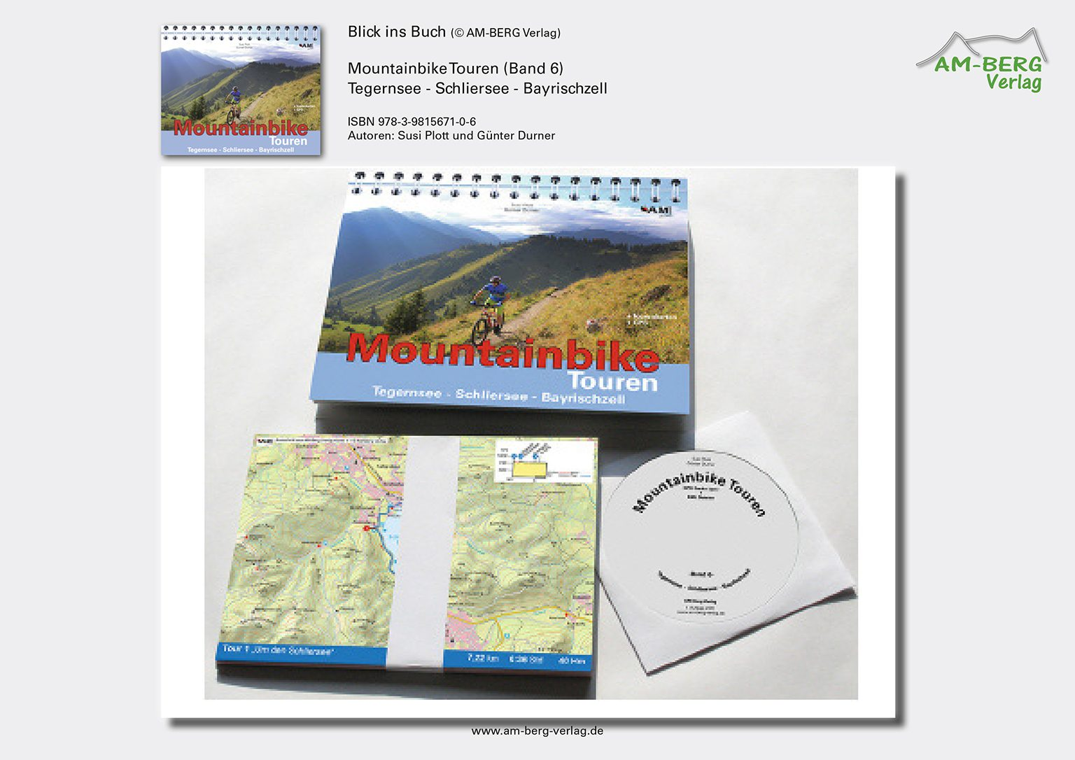 Mountainbike Touren Tegernsee-Schliersee-Bayrischzell (Band 6)_Ringbuch, Tourenkarten, CD
