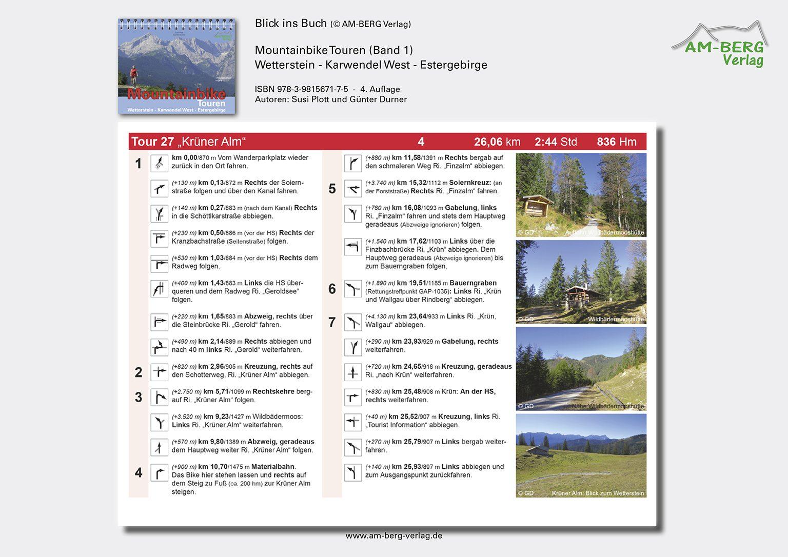 Mountainbike Touren Wetterstein-Karwendel-West-Estergebirge_band1_BlickinsBuch10_Krüner Alm