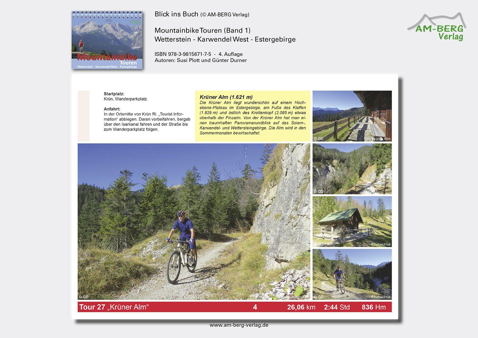 Mountainbike Touren Wetterstein-Karwendel-West-Estergebirge_band1_BlickinsBuch11_Krüner Alm
