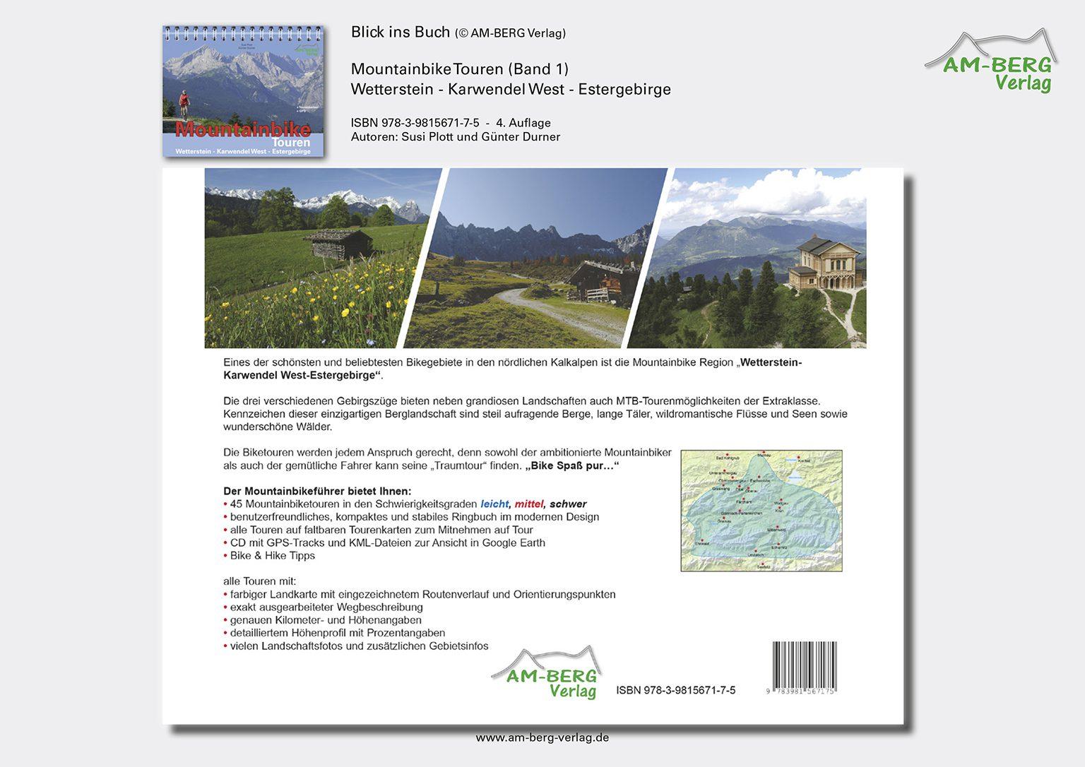 Mountainbike Touren Wetterstein-Karwendel-West-Estergebirge_band1_Rückseite Buch