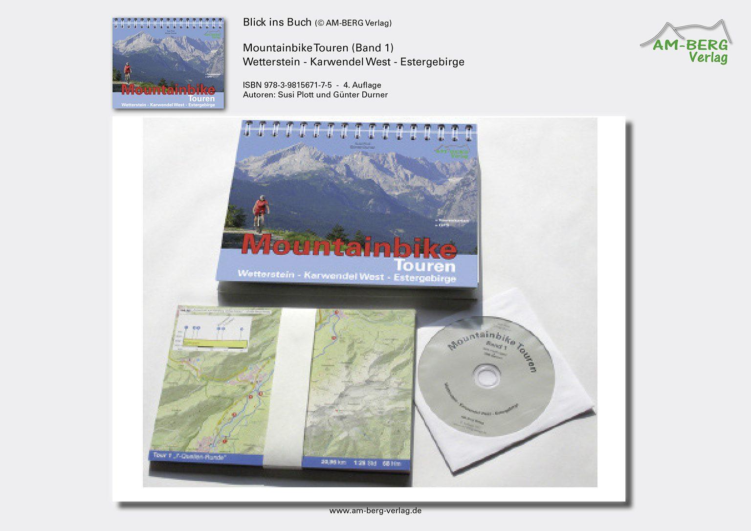 Mountainbike Touren Wetterstein-Karwendel-West-Estergebirge_band1_Ringbuch, Tourenkarten, CD
