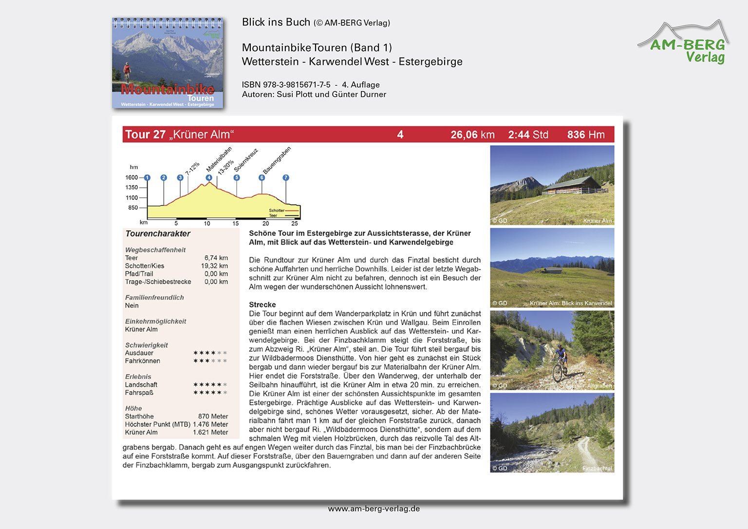 Mountainbike Touren Wetterstein-Karwendel-West-Estergebirge_band1_BlickinsBuch08_Krüner Alm