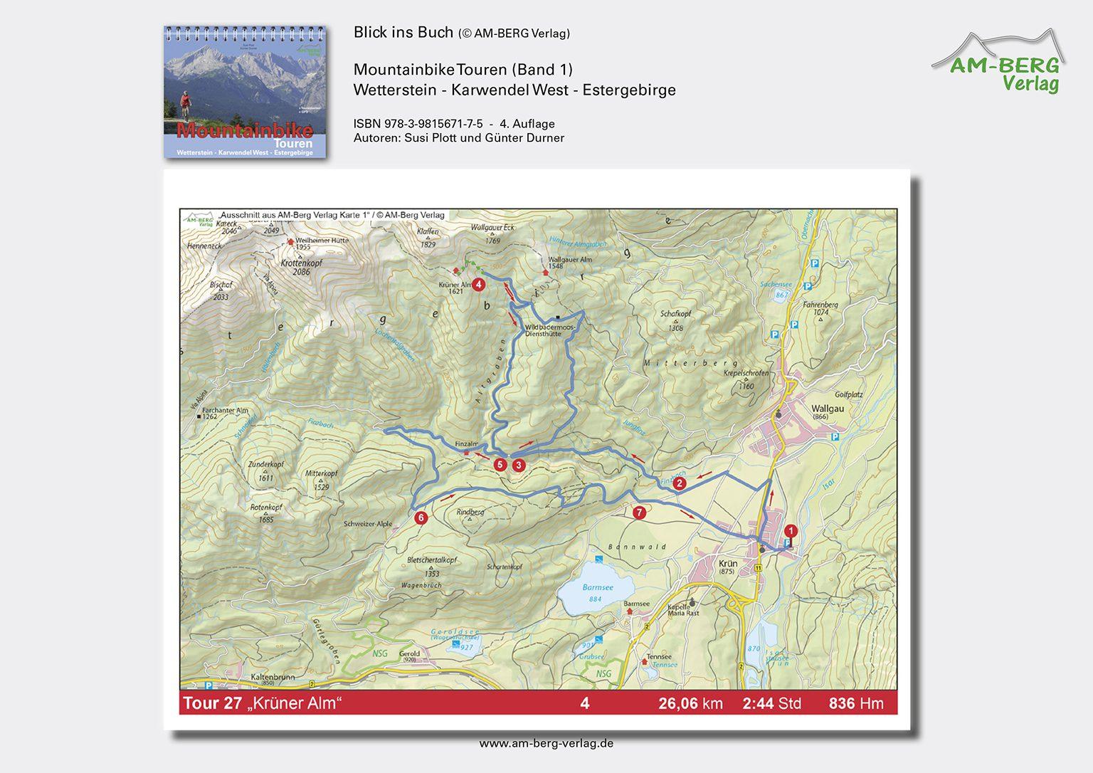 Mountainbike Touren Wetterstein-Karwendel-West-Estergebirge_band1_BlickinsBuch09_Krüner Alm