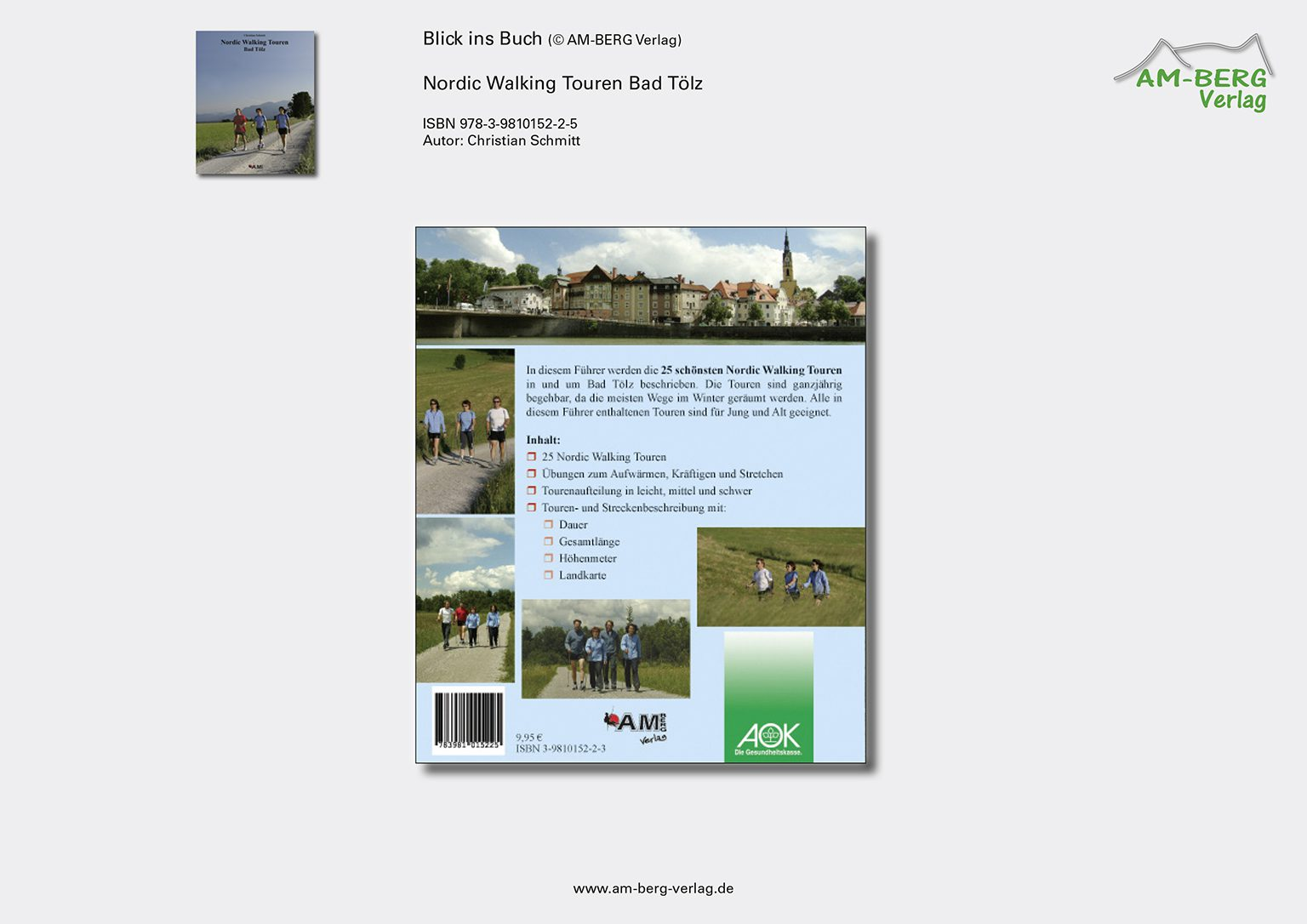 Nordic Walking Touren Bad Tölz_Rückseite Buch