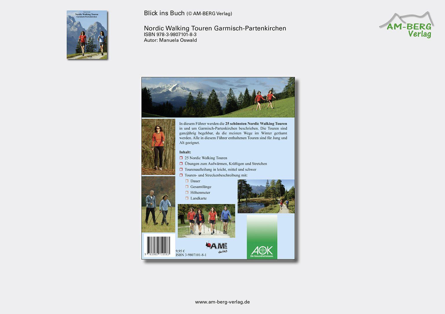 Nordic Walking Touren Garmisch-Partenkirchen_Rückseite Buch