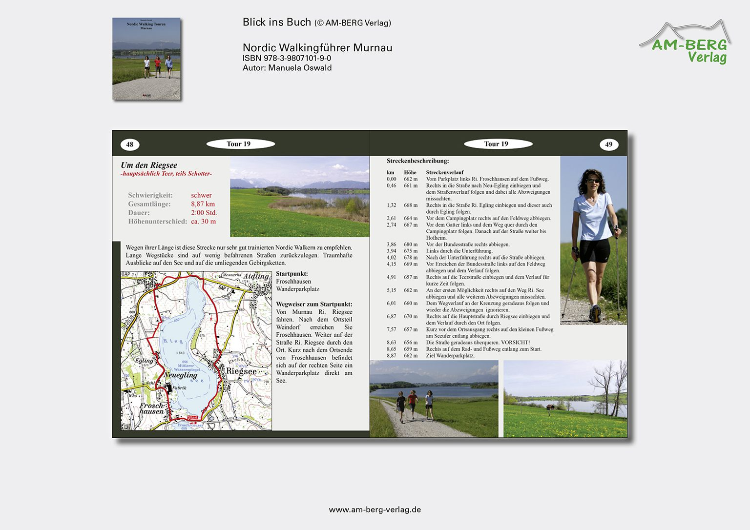Nordic Walking Touren Murnau_BlickinsBuch_Um den Riegsee