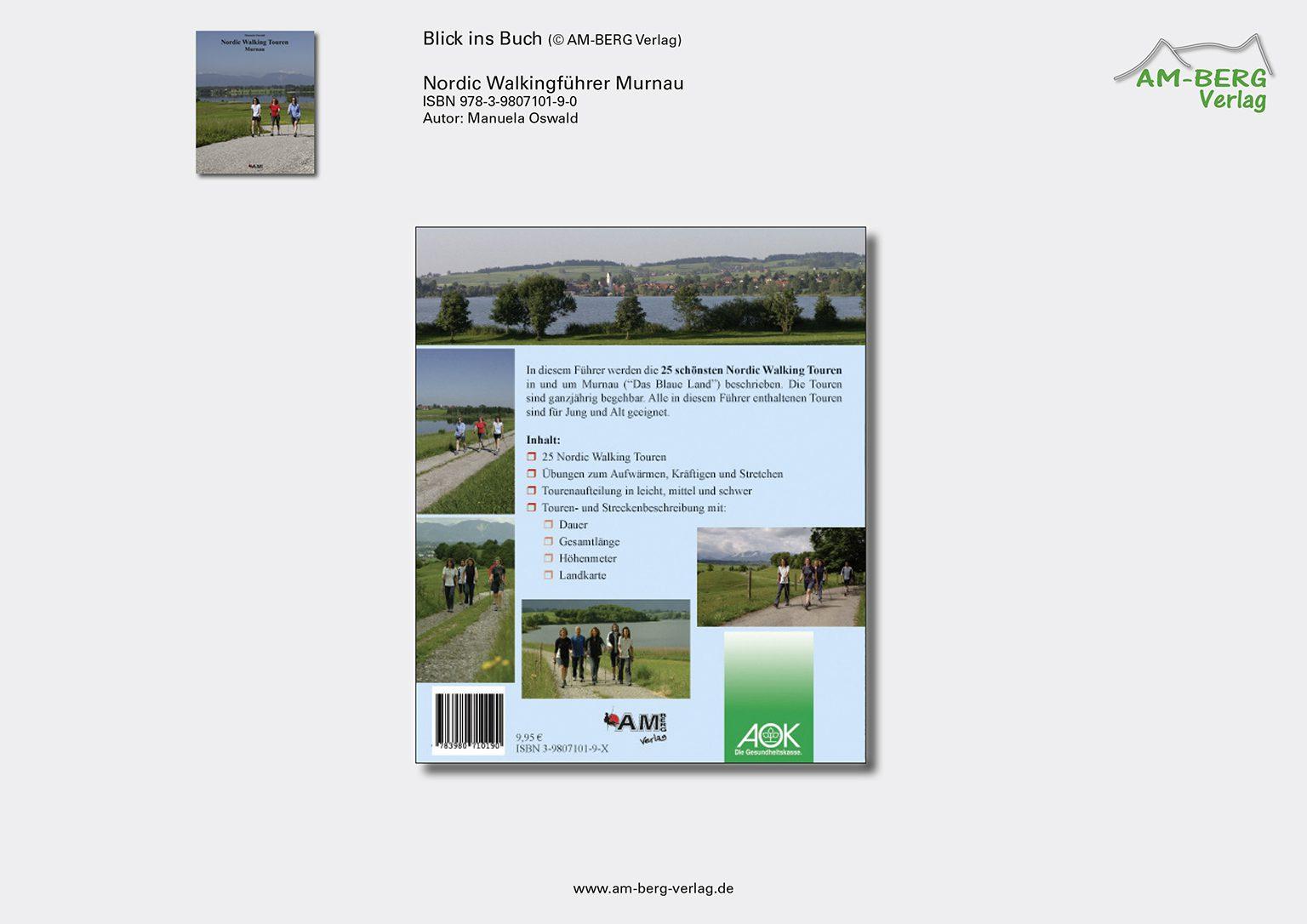 Nordic Walking Touren Murnau_Rückseite Buch