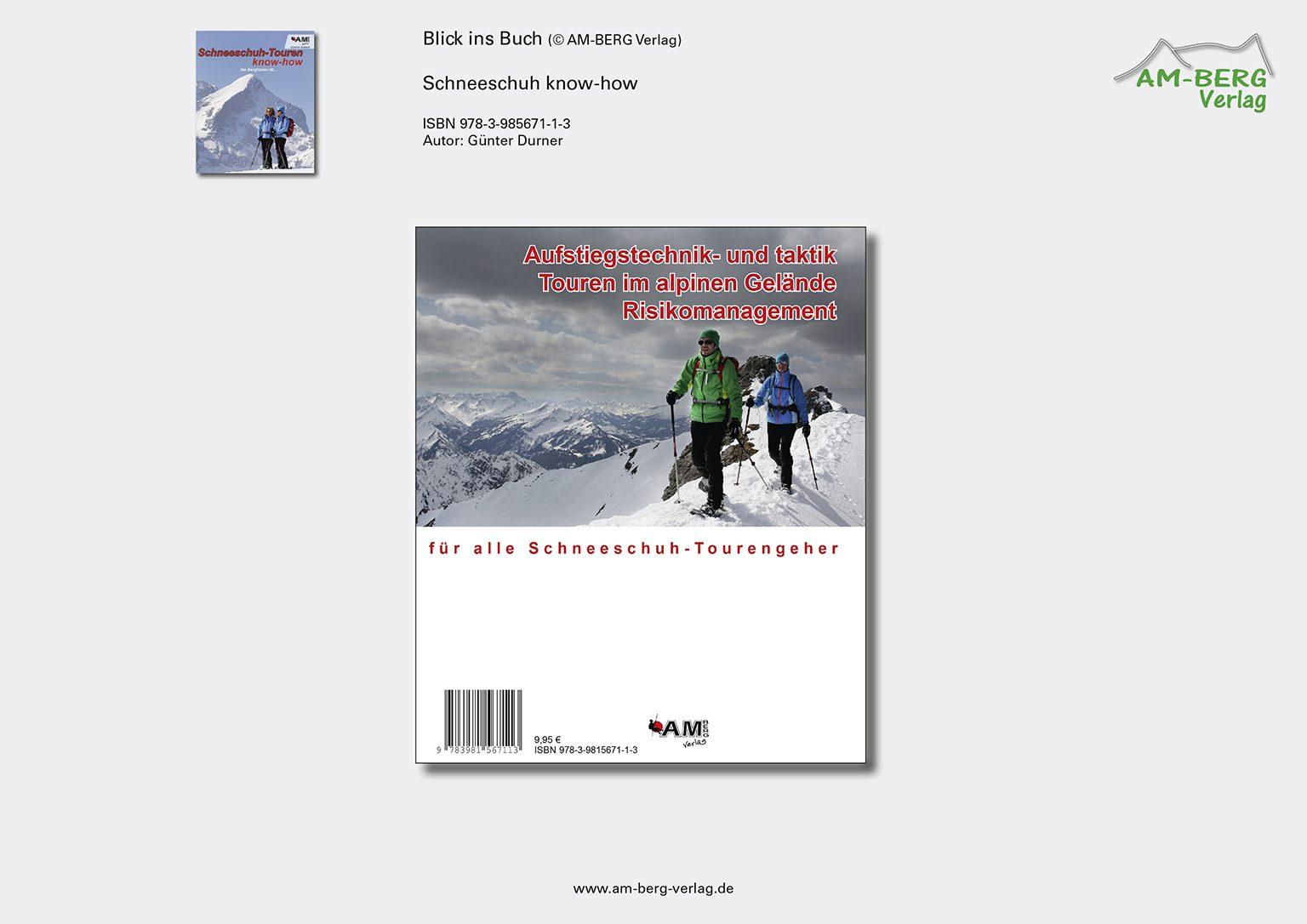 Schneeschuh-Touren know-how_Rückseite Buch