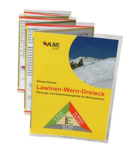 Leporello Lawinen-Warn-Dreieck